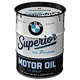 Nostalgic-Art - BMW - Superior Motor Oil Spardose, Geschenke für BMW-Fans, als Sparschwein aus Metall, Vintage Sparbüchse aus Blech